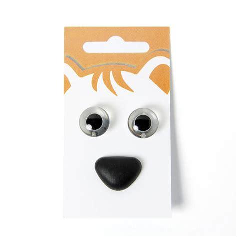 yeux d animaux nez d animaux kit 2 boutons blancs