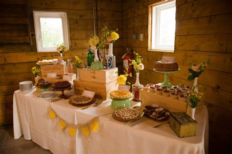 how to create a rustic dessert table for your barn wedding rustic farm dessert table elizabeth anne designs the