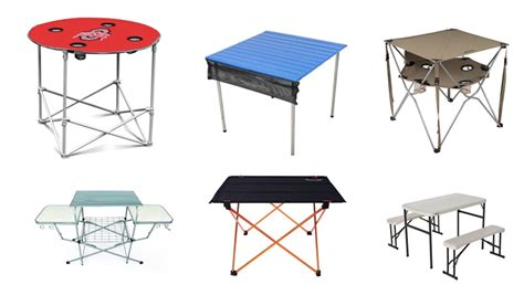 top   practical camping tables  festival living