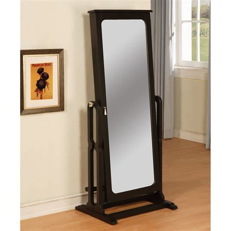 jewelry armoire mirrored antique black cheval mirror jewelry armoire 26l x 59 75h in jewelry armoires at
