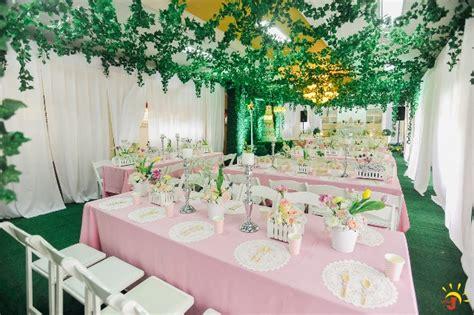 garden themed events cailey s posh garden themed party venue setup sweet