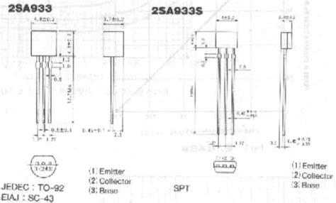 transistor circuits pdf a933 datasheet a933 pdf pinouts circuit rohm semiconductor