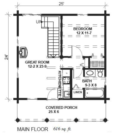 24 X 24 House Plans Cabin 24x24 House Plans Homedesignpictures