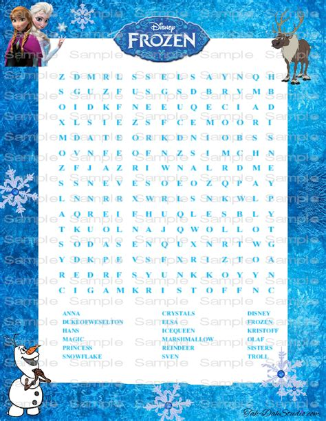 printable frozen word search new disney frozen word search game birthday party by