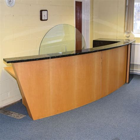 Marble Reception Desk Maple Marble Large Reception Desk