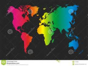 colorful world map colorful world map stock vector image of global