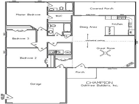 single floor plan single story open floor plans single story open floor