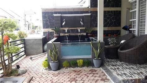 kolam ikan koi nila taman depan rumah kolam ikan