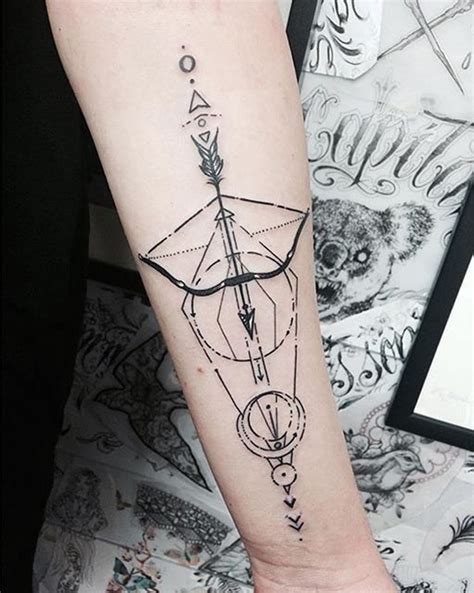 geometric arrow tattoo 37 bow and arrow ideas to gives you insanely cool ink