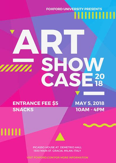 design flyer canva art showcase event flyer templates by canva