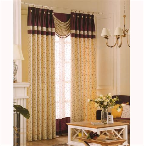 room curtain room darkening curtains country light yellow floral jacquard
