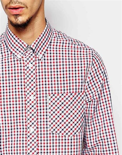 Ben Shirt lyst ben sherman shirt with gingham house check in blue