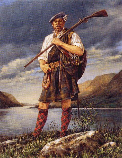 scottish highlander warrior living with clans and castles jacobite symbolism