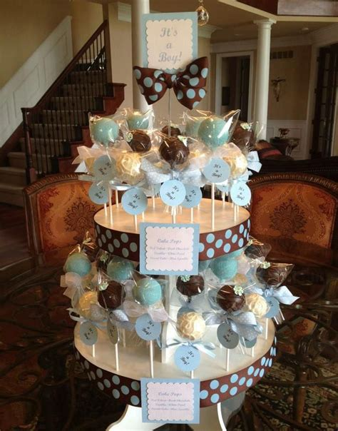 Baby Shower Display by The Most Beautiful Baby Shower Cake Pop Stand Display