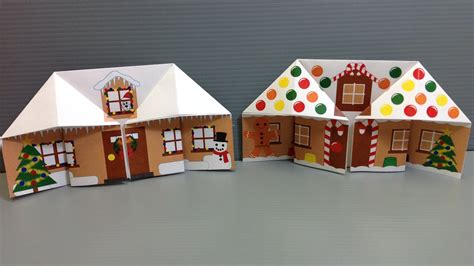 Folded Paper House - make your own origami gingerbread house