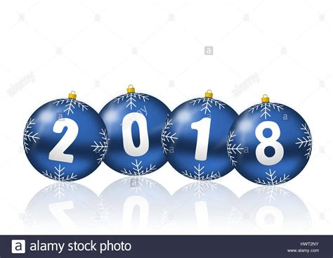 new year 2018 ornaments 2018 happy new years illustration with balls on
