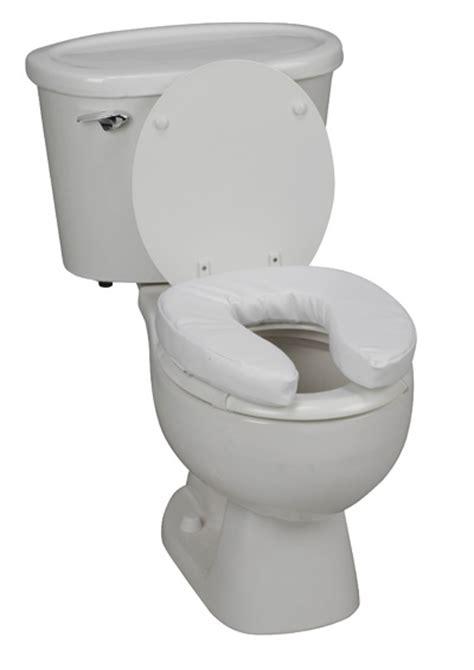 padded raised toilet seat elevated bathroom seat cushion