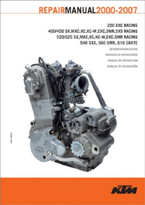 ktm   racing engine repair manual paper
