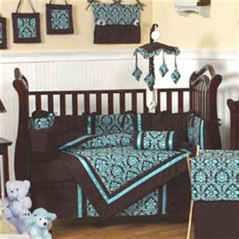 Brown And Blue Crib Bedding Turquoise And Brown Baby Bedding 9 Pc Crib Set