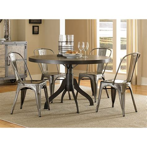 Tremendous Dining Table Furniture Feat Five Piece Metal Steel Chairs For Dining Table