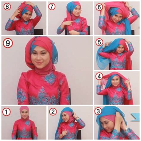 tutorial hijab pesta warna hitam tutorial hijab untuk kebaya 2