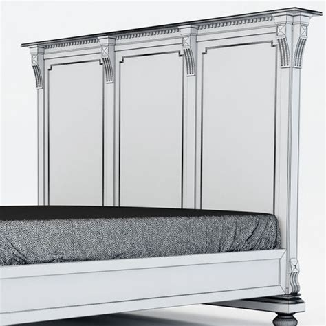 restoration hardware st james bed restoration hardware st james king bed without footboard 3d model max cgtrader com