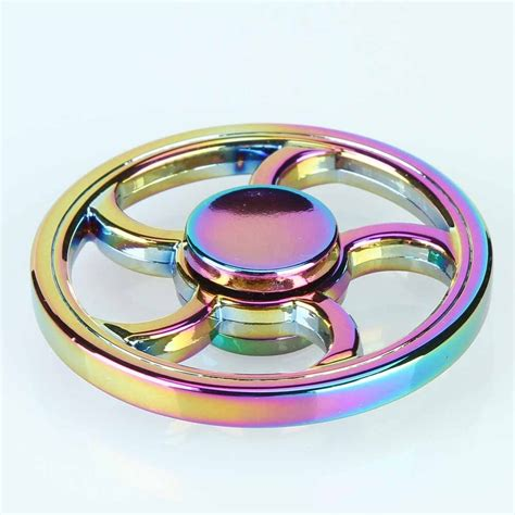 circle rainbow fidget spinner spinner edc toys