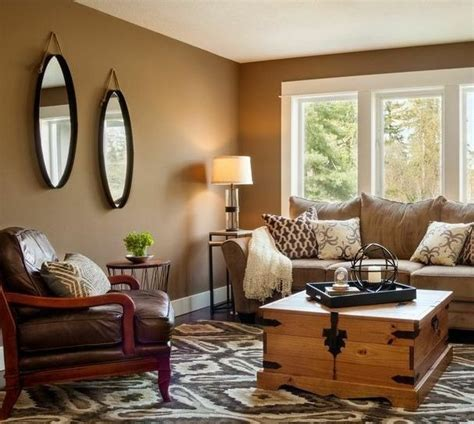 paint colors for living rooms with furniture mirror on brown wall paint color for best living