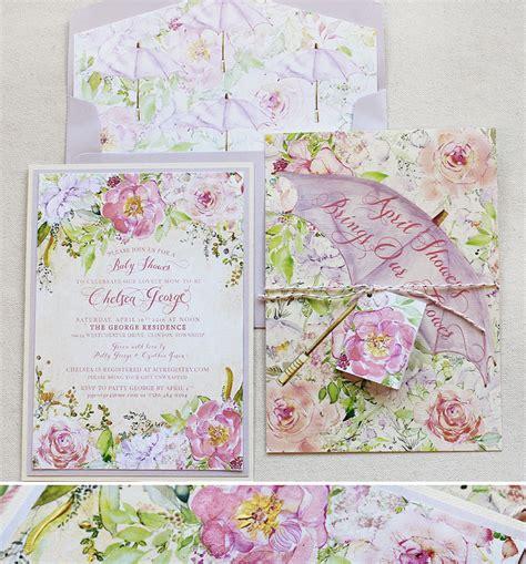 Chelsea G chelsea g pink floral baby shower invitationsmomental