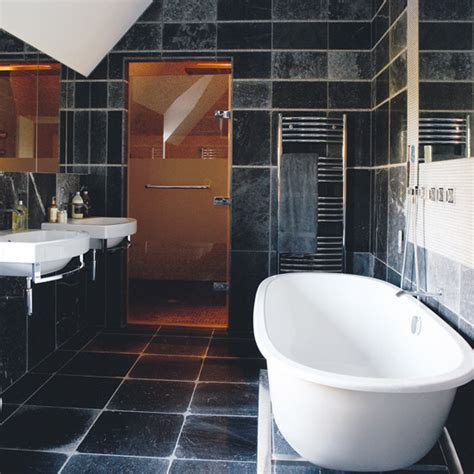 black and white tiled bathroom ideas black tiled bathroom 187 bathroom design ideas