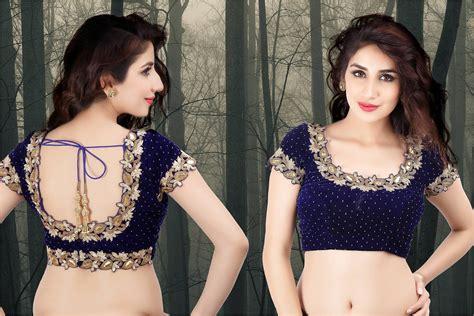 latest embellished saree blouse designs amp patterns