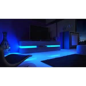 meuble tv blanc laqu 233 avec led pour meubles tv design a