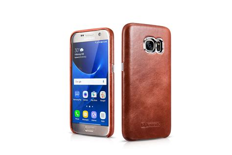 Samsung Original Leather Back Cover For Galaxy S7 Edge samsung galaxy s7 vintage back cover series genuine leather