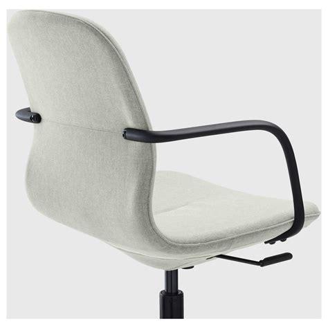 L 197 Ngfj 196 Ll Swivel Chair Gunnared Light Green Black Ikea Green Swivel Chair