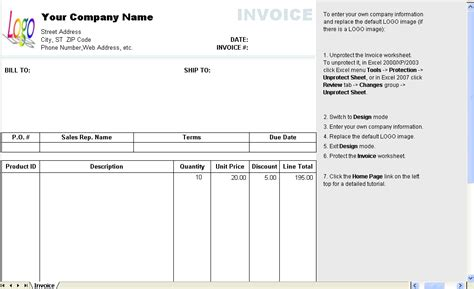 Invoice Template With Discount Hardhost Info Invoice With Discount Template