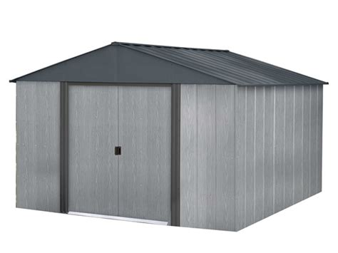 10x10 Shed Kit by Arrow Shed Steel Shed Driftwood 10 X 10
