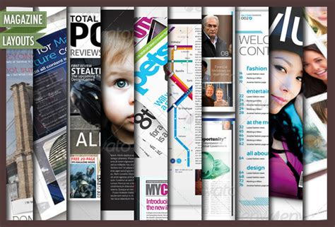 magazine cover layout indesign 10 full magazine layout templates for indesign by cursiveq