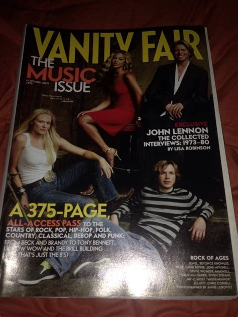 Vanity Fair Soundtrack by Vanity Fair Magazine 2001 Issue Beyonce Beck Bowie