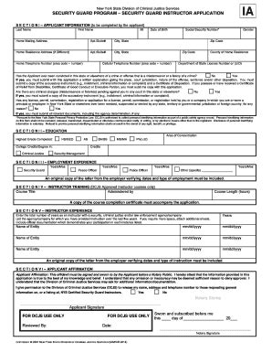 Security Guard Program Security Guard Instructor Application Fill Online Printable Fillable Security Guard Application Form Template