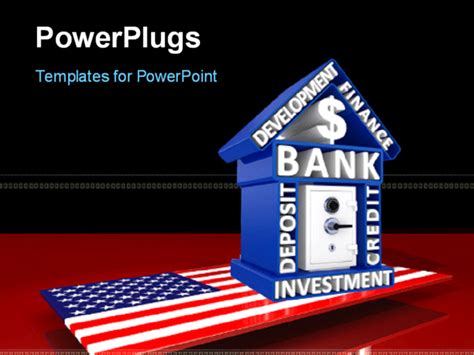 investment banking powerpoint templates powerpoint template us banking concept with house made up