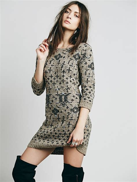 Sweater Dresses by Turtle Neck Slim Fitted Occasional Sweater Dresses