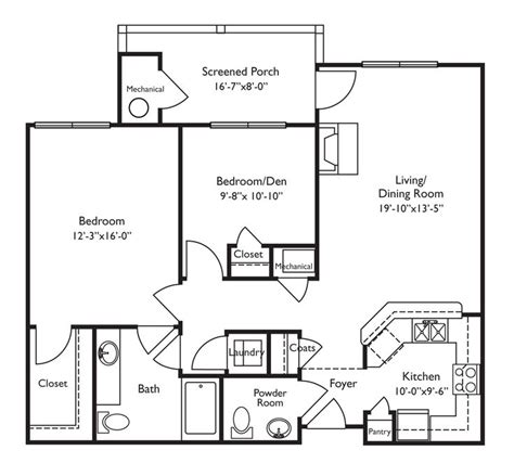 floor plans for retirement homes looks wheelchair