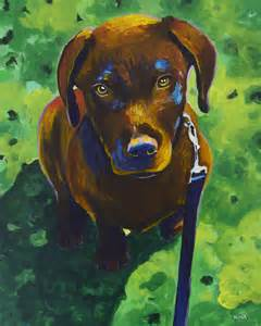 puppy painting new doggie painting chocolate labrador retriever puppy