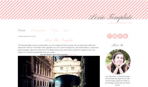 premade blogger template simple pink and grey blog template simple pink premade blogger template lexie