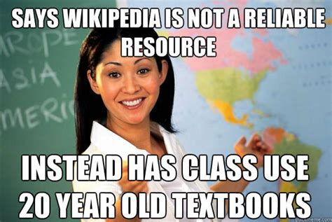 Wikipedia Meme - teacher responds to bad teacher memes
