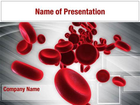 Streaming Blood Cells Powerpoint Templates Streaming Blood Ppt Templates Free