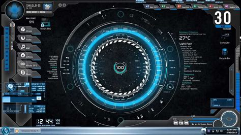 jarvis theme for windows 7 rainmeter part 1 cool desktop customizations for windows
