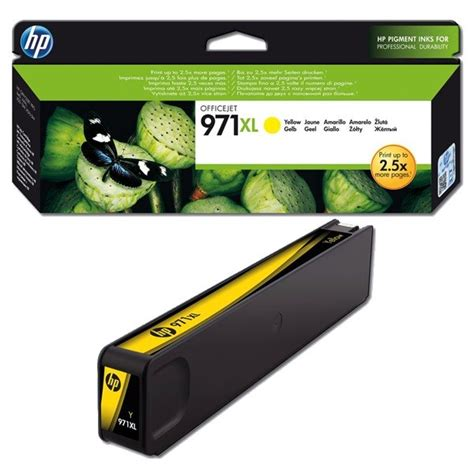 hp cn628ae genuine high capacity yellow office jet 971xl ink cartridge