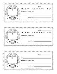 S Day Coupon Template by Early Play Templates Mothers Day Coupons
