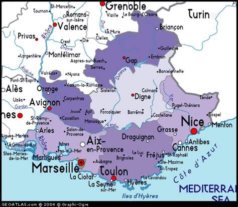 provence map map of provence alpes cote d azur atlas
